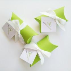 """Коробочка-""""пирожок"""" для флешки в эко-стилеиз матового дизайнерского картона"""