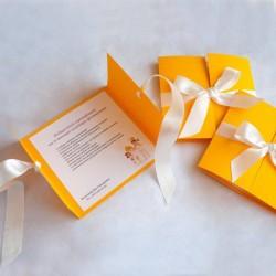 Подарочный сертификат из матового дизайнерского картона
