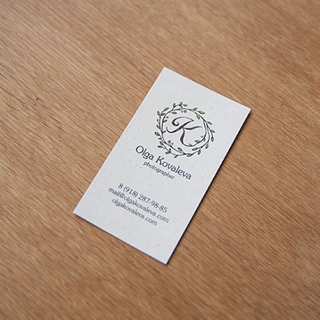 Визитки на дизайнерском картоне
