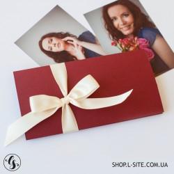 Цветной подарочный сертификат 21х10
