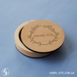 Коробка для флешки круглая со съемной крышкой