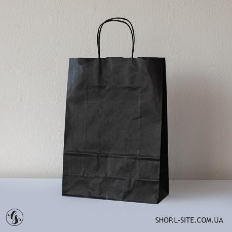 Крафт-пакет черного цвета
