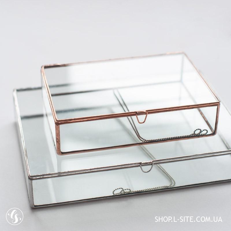 Коробка для фотографий стекло, стеклянная шкатулка