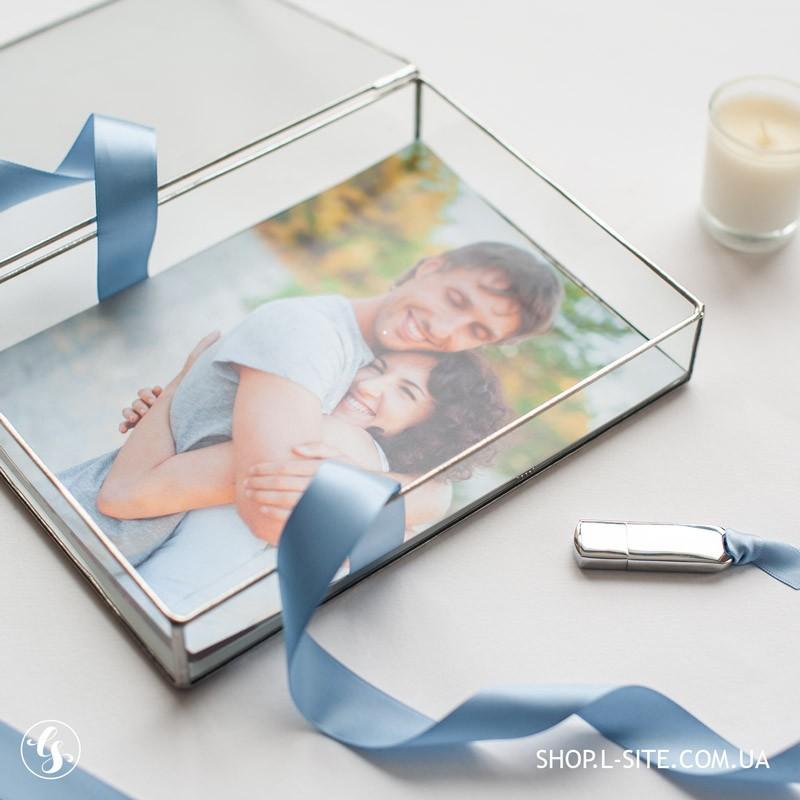 свадебный Fine art - свадебный фотограф и стеклянная шкатулка коробка для фотографий