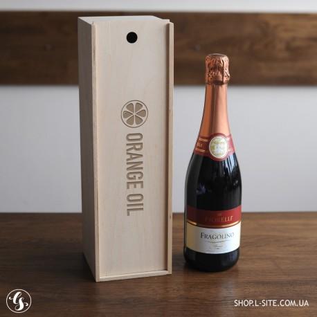 Ящик для бутылки вина с логотипом компании