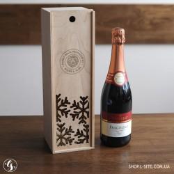 Коробка для бутылки вина новогодняя