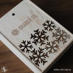 Коробка для подарка из дерева, ящик с логотипом