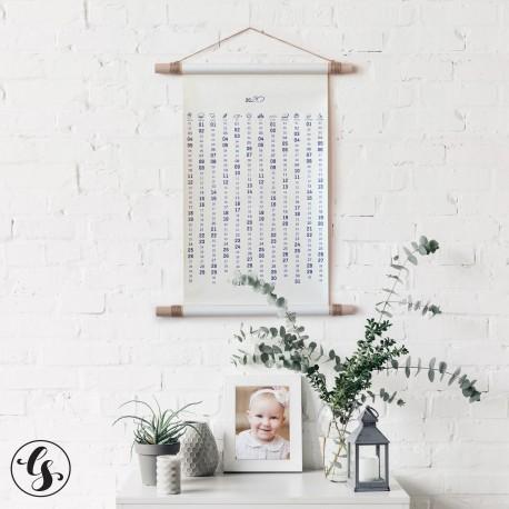 необычный календарь свиток в тубусе