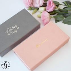 Коробка для фото и флешки с крышкой из итальянского кожзама