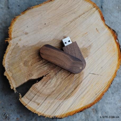 Флешка деревянная с лого без крышки