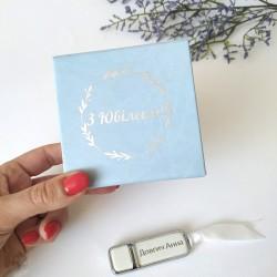 Набор флешка кожа+ коробка из итальянского кожзама