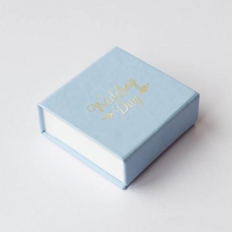 Коробка для флешки с надписью на крышке пленкой, крышка итальянский кожзам
