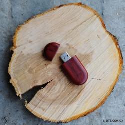Флешка деревянная с крышкой