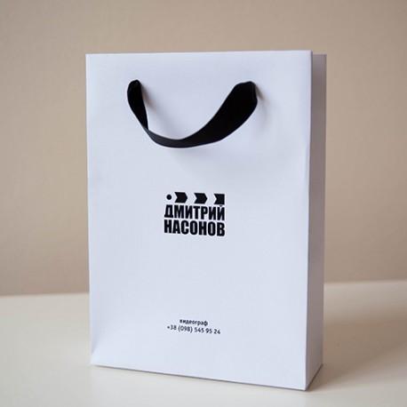 Пакет из дизайнерской бумаги